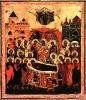 Икона. Успение Богоматери (врезок). 17 век