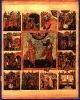 Икона Первоверховные апостолы Петр и Павел, с деяниями в 12 клеймах  17 век